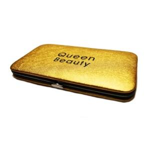Магнитный кейс Q-Beauty для пинцетов (Золото)