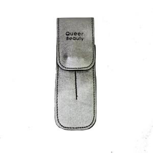 Чехол для двух пинцетов Q-Beauty (серебро)