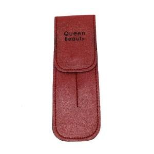 Чехол для двух пинцетов Q-Beauty (красный)