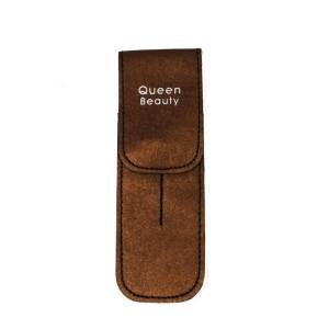 Чехол для двух пинцетов Q-Beauty (коричневый)