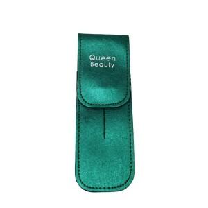 Чехол для двух пинцетов Q-Beauty (зеленый)