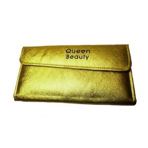 Чехол для шести пинцетов Q-Beauty (золото)