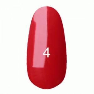 Гель лак №4 (классический красный цвет, эмаль) 8 мл