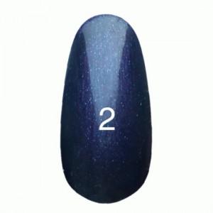 Гель лак № 2 (Темно-фиолетовый с перламутром), 8 мл