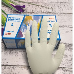 Перчатки латексные PLAST - Размер L