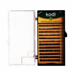"""Брови """"Kodi"""" прямой и натуральный завиток (коричневые)"""