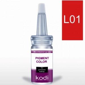 """Пигменты для губ """"Kodi"""" L01 - L15 (палитра цветов)"""