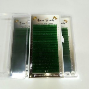 Ресницы зелёные Queen Beauty (один размер)