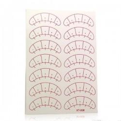 Патчи бумажные под глаза самоклеящиеся с разметкой, 7 пар