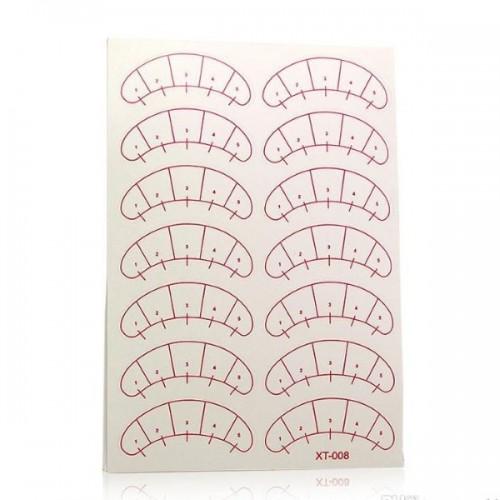 Патчи бумажные под глаза самоклеящиеся с разметкой
